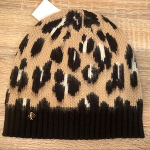 🆕 KATE SPADE women's leopard pattern knit beanie